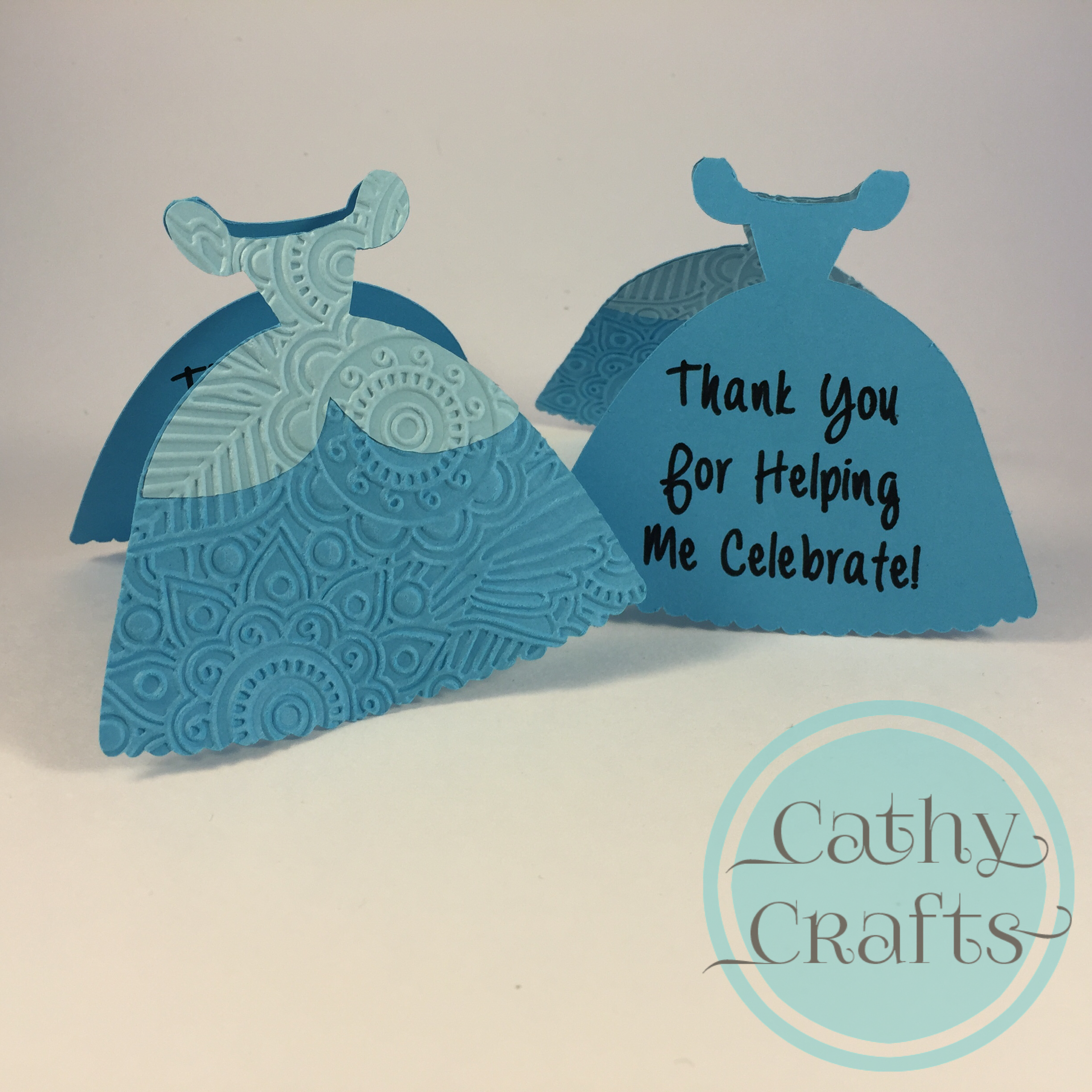 Cinderella birthday party cathy crafts cinderella thank you cards bookmarktalkfo Gallery
