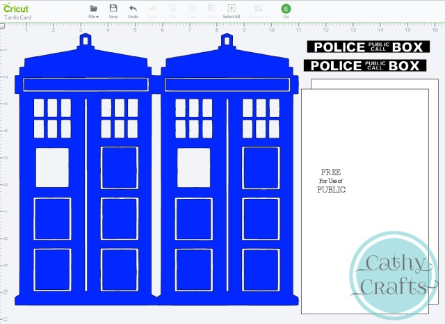 Tardis Card in Design Space