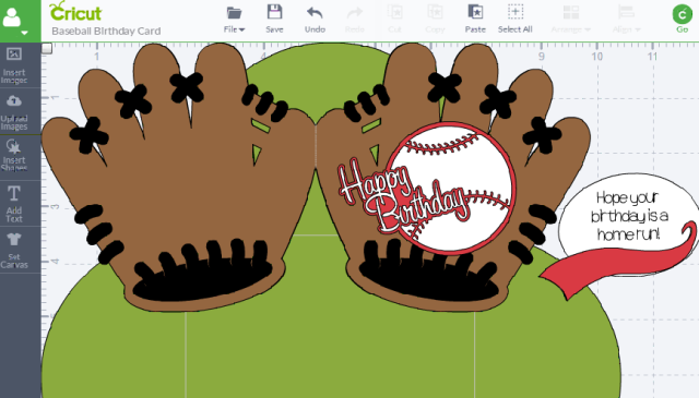 Baseball Birthday Card Design Space