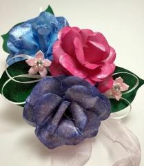 Handmade Paper Rose Corsage
