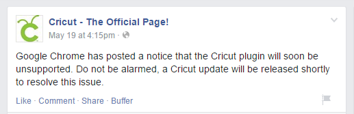 Cricut Facebook NPAPI Post