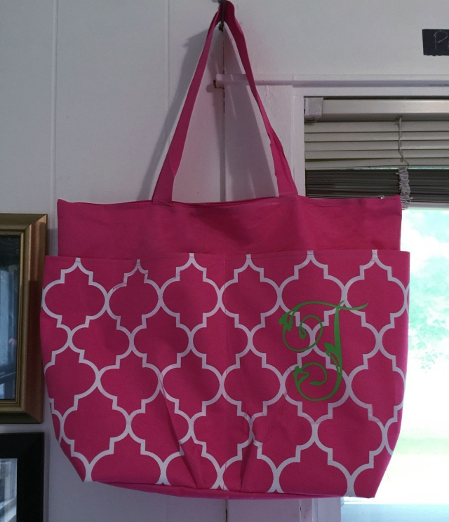 Teacher Tote Bag with Iron On Monogram