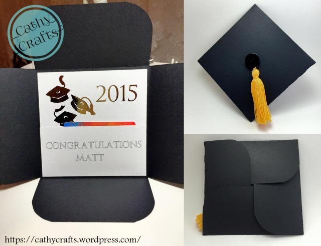 Graduation Cap Card Cathy Crafts – Graduation Cap Invitation