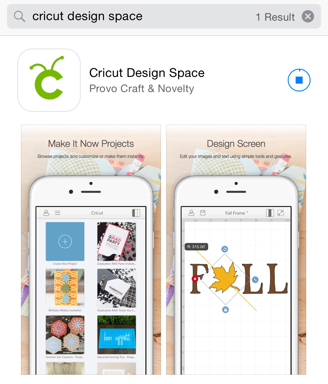Cricut Design Space iPhone App Available | Cathy Crafts