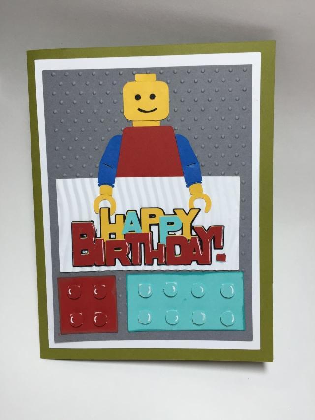 Lego Man Birthday Card Cathy Crafts