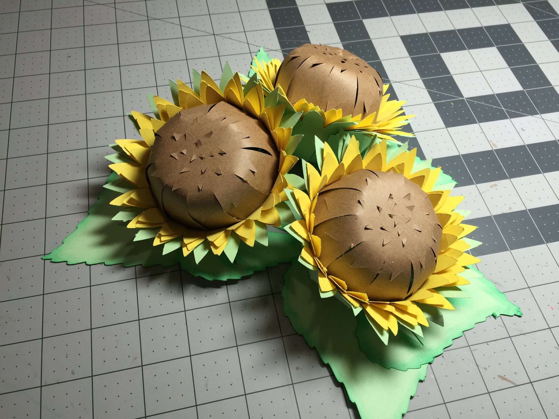 3d Sunflowers Cathy Crafts