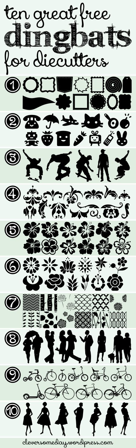 10 great dingbats for diecutters