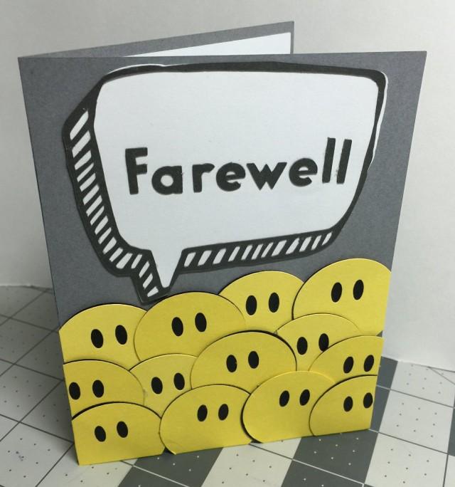 Farewell Speech Bubble Card