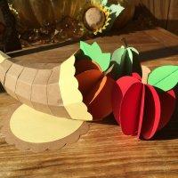 Cornucopia & Fruits 3D SVG File