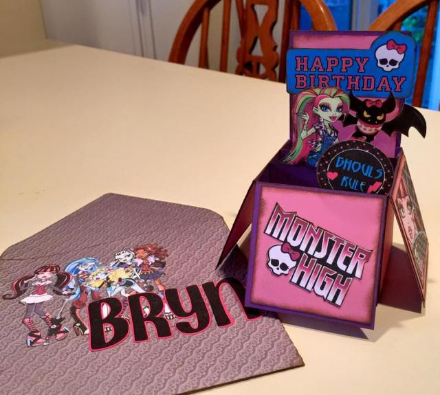 Monster High Cards Cathy Crafts