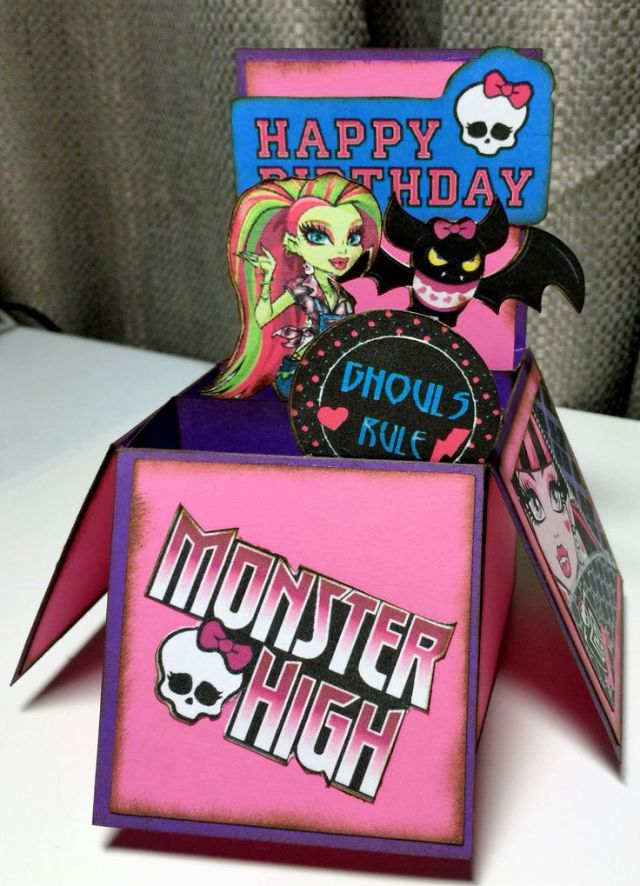 Monster High Pop Up Card