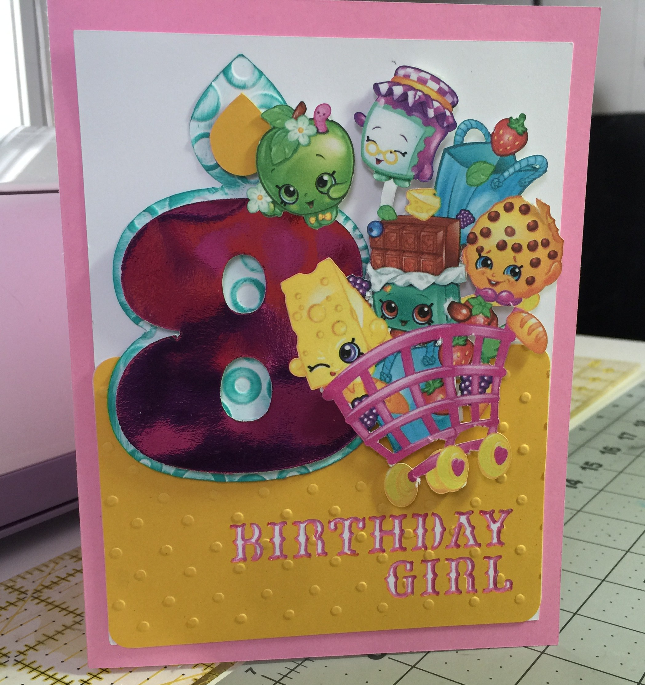 photograph regarding Shopkins Birthday Card Printable known as Shopkins Birthday Print Then Slice Card Cathy Crafts