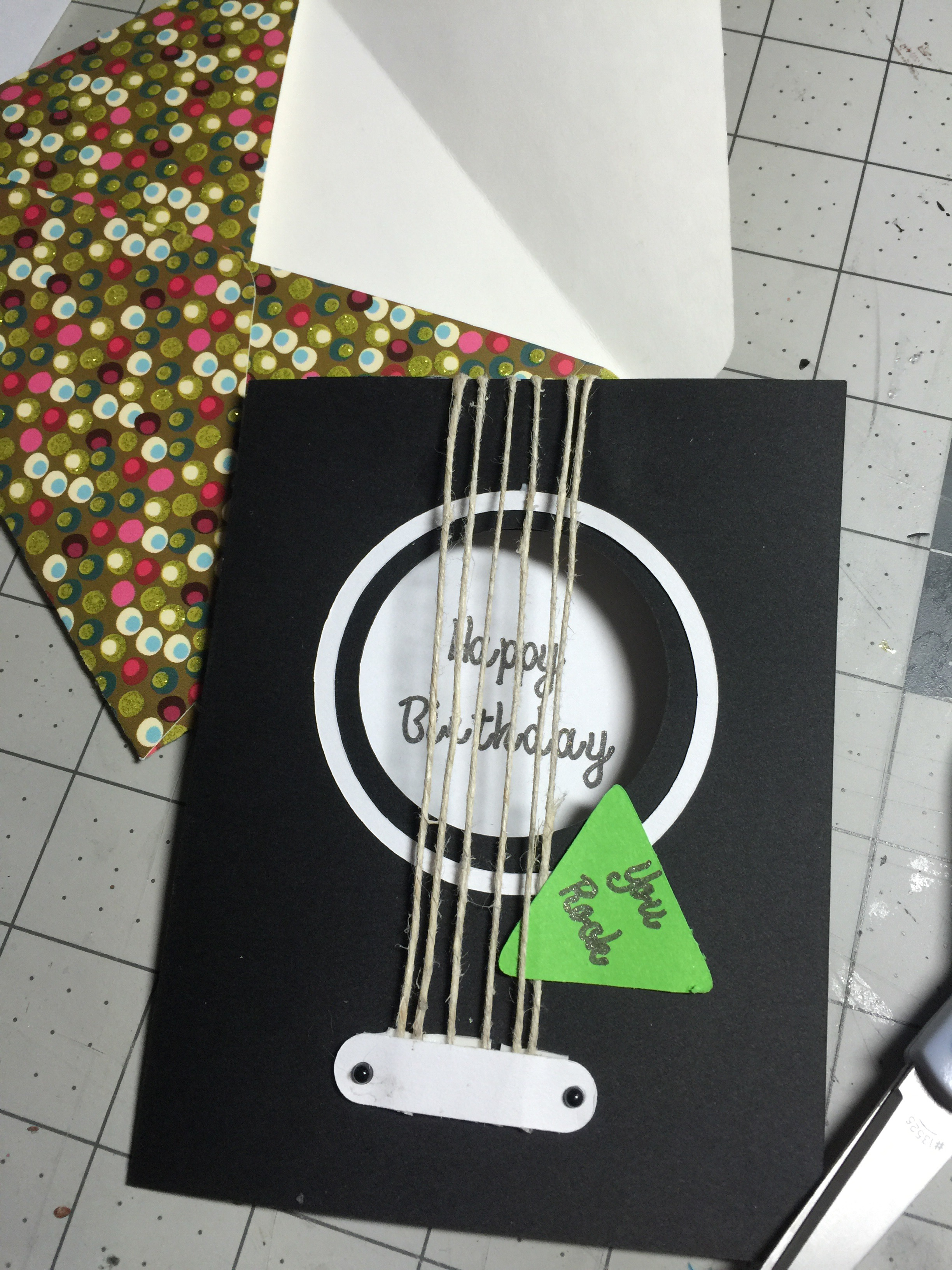 Guitar birthday card cathy crafts guitar birthday card bookmarktalkfo Choice Image