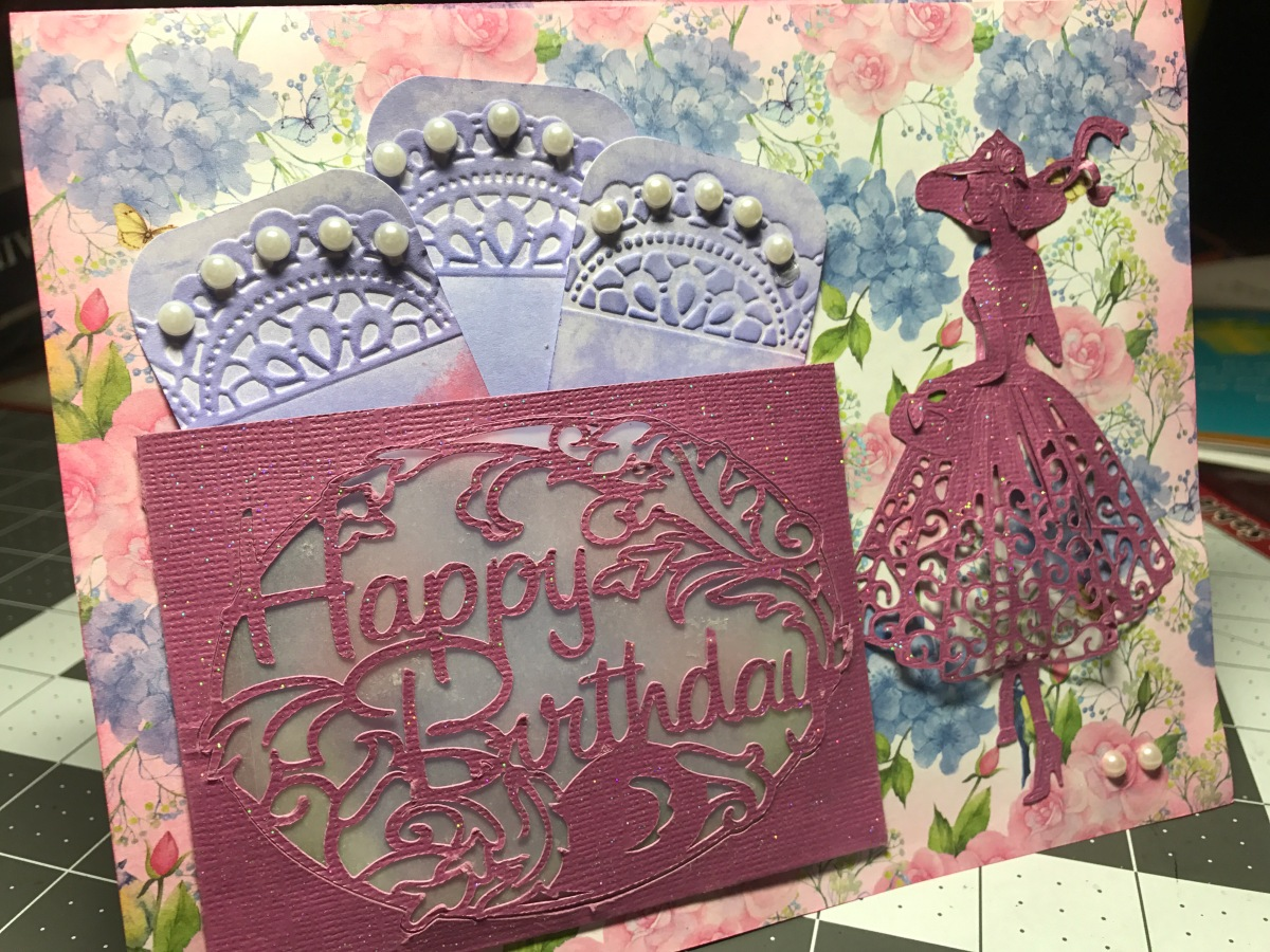 Flower and Sparkle Birthday Card